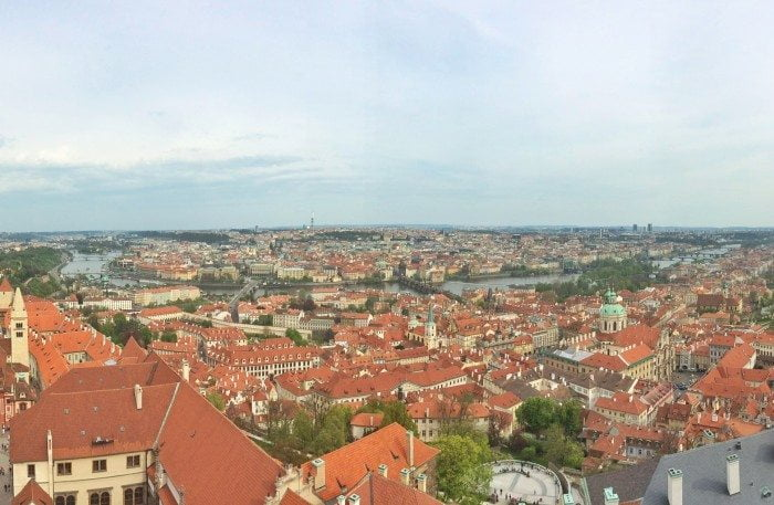 prag castle view